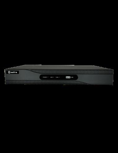 NVR Grabador para cámaras IP, 32 Canales. Resolución máxima 8 Mpx. Ancho de banda 256 Mbps. Espacio para 2 HDD