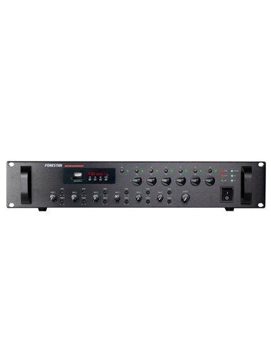 Amplificador 240W RMS. 6 zonas con control independiente de volumen