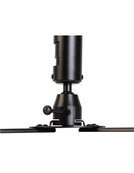Soporte orientable y extensible de techo para proyectores. Extensible 82 a 120 cm. Negro