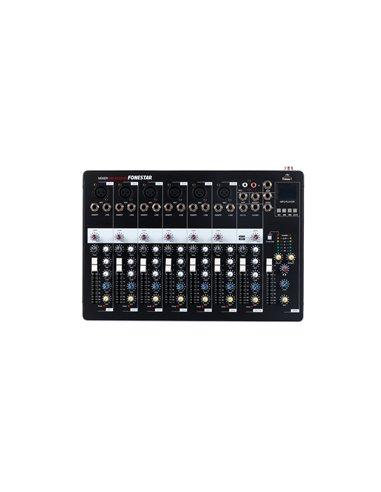 Mezclador estéreo, 6 canales mono y 1 canal estéreo. Reproductor USB/MP3