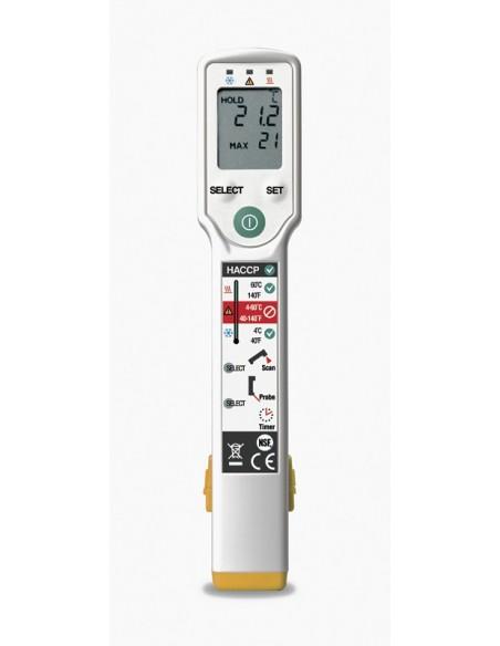 Termometro FoodPro para aplicaciones alimentarias, añade medida por contacto