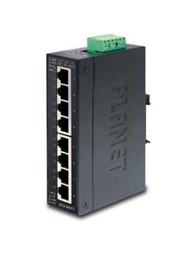 Switch industrial 8 puertos 10/100/1000, IP-30, (-40,+75ºC)