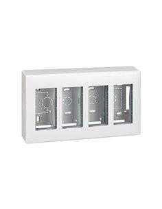 Caja superficie S500, 4 módulos, blanco