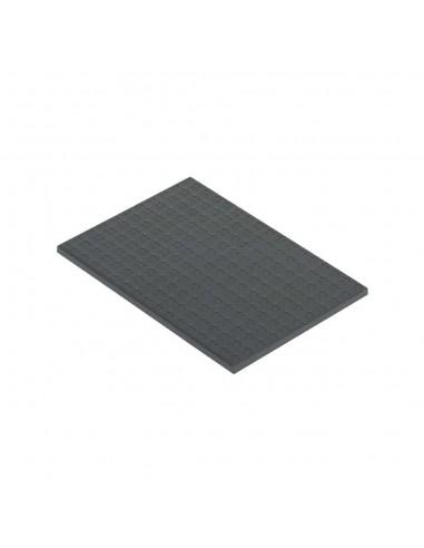 Tapa de enrasamiento S500, 2 módulos, gris