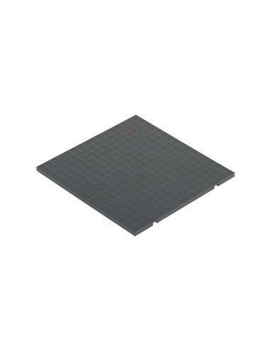 Tapa de enrasamiento S500, 3 módulos, gris