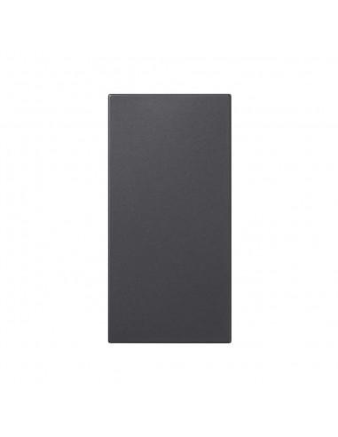 Placa S500 ciega doble, gris grafito
