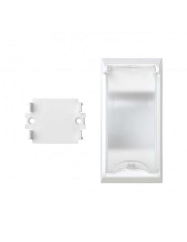 Placa para magnetotérmico o diferencial Simon 500. Solo cajas de suelo