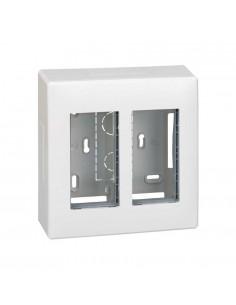 Caja superficie S500, 2 módulos, blanco