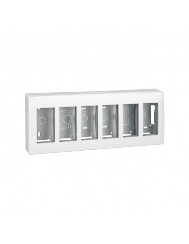 Caja superficie S500, 6 módulos, blanco