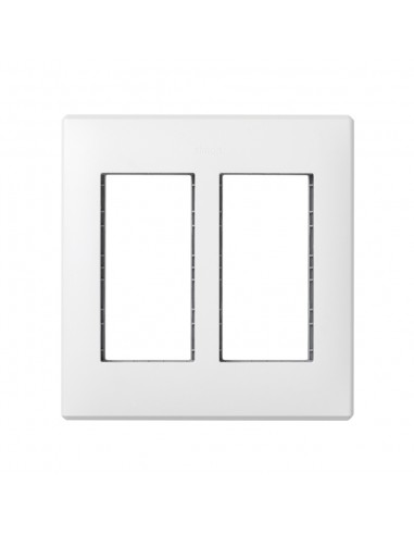 Marco caja empotrar en pared S500 de 2 módulos, blanco